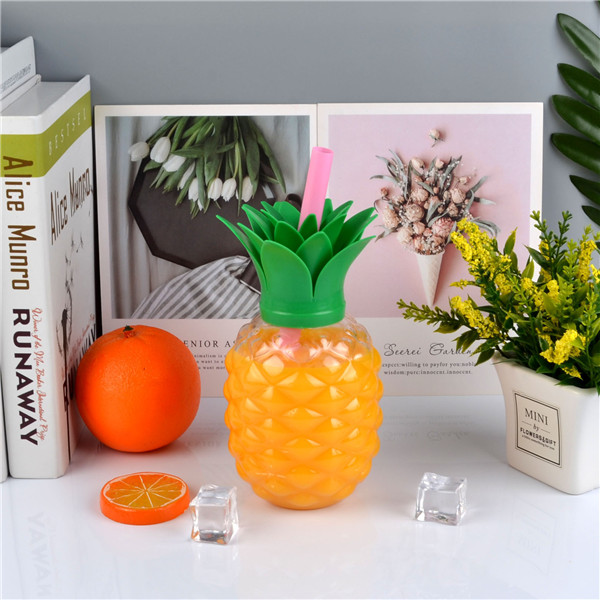 Charmlite New Plastic Pineapple Shape Drinking Cup with LED Funtion 16oz6 (2)