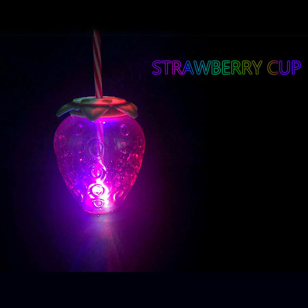 Charmlite Sparkle Plastic Strawberry Cup with LED Function 16oz06