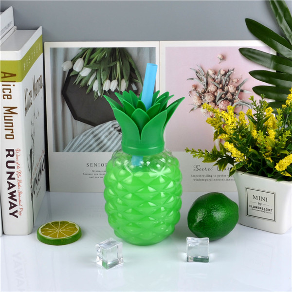 Charmlite New Plastic Pineapple Shape Drinking Cup with LED Funtion 16oz6 (1)